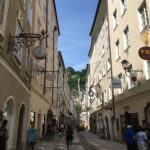 Getreidegasse - famous shopping area in Salzburg